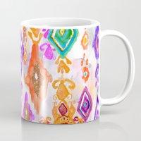 bali Mugs featuring Bali Ikat  by Nikkistrange