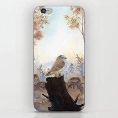 Owl meeting iPhone & iPod Skin