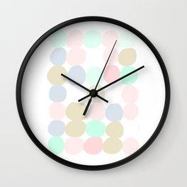 Pastel Spots Wall Clock