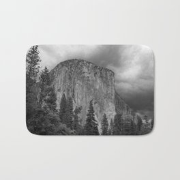 Yosemite National Park, El Capitan, Black and White Photography, Outdoors, Landscape, National Parks Bath Mat
