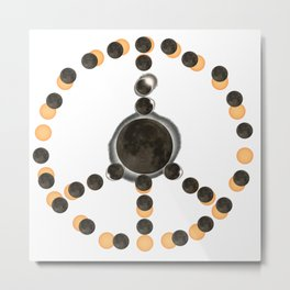 Solar Eclipse – Peace on Earth Metal Print