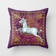 Unicorn - Garden of Beasts Collection Throw Pillow