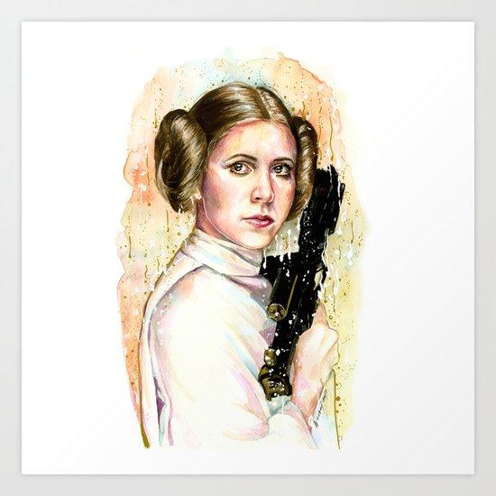 Princess and General Art Print