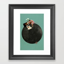 Life on Earth | Collage Framed Art Print