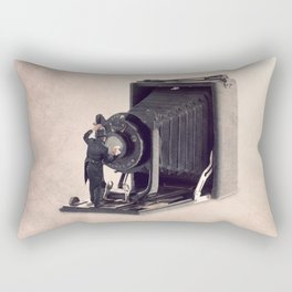 The lens cleaner Rectangular Pillow