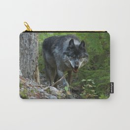 Stalking - Alpha Male Grey Wolf Carry-All Pouch