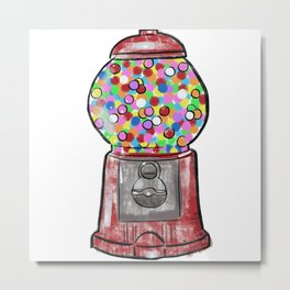 Gumball Machine Metal Print
