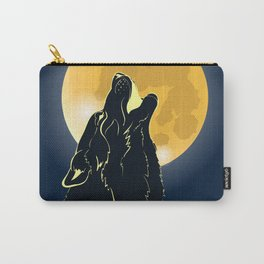 the wolf howls to the moon Carry-All Pouch