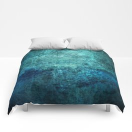 Turquoise Ocean Marble Comforters