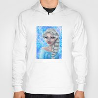 frozen elsa Hoodies featuring .:Elsa:. by Kimberly Castello
