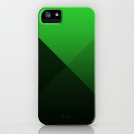 green triangle luminosity with darken and bright colors iPhone Case