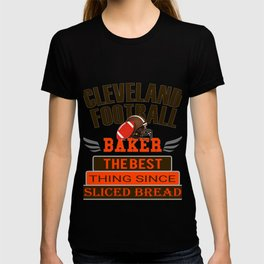 Fun Cleveland Football Baker Design T-shirt