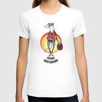 greyhound T-shirts featuring Outback Greyhound by Elspeth Rose Design