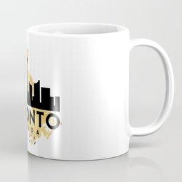 TORONTO CANADA SILHOUETTE SKYLINE MAP ART Coffee Mug