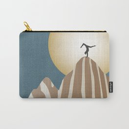 Moonlight Yoga over the Zebra Mountain Carry-All Pouch