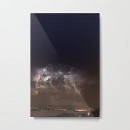 Radiating Storm Metal Print