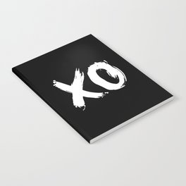 XO Hugs and Kisses white and black gift for her girlfriend xoxo bedroom art and home room wall decor Notebook