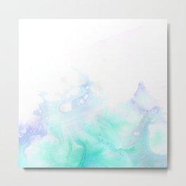 turquoise watrcolor Metal Print