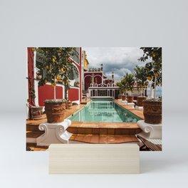 Pool at Le Sirenuse Hotel, Positano, Italy Mini Art Print