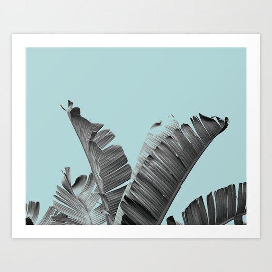 Cool palm spring break Art Print