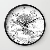stockholm Wall Clocks featuring STOCKHOLM by Maps Factory