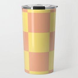 geometric retro chess pattern Loogaroo Travel Mug
