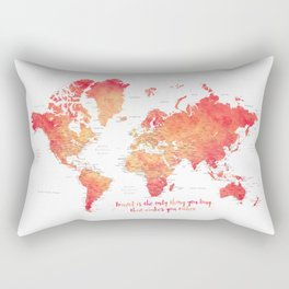 Travel is the only thing you buy that makes you richer world map Rectangular Pillow