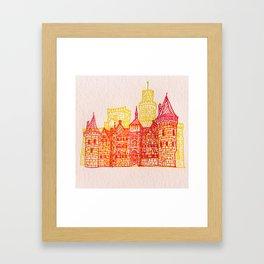 Letterpress Castle 2 Framed Art Print