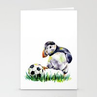 football Stationery Cards featuring Football by Anna Shell