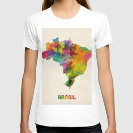 Brazil Watercolor Map T-shirt