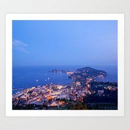 Early Evening Over Cap Ferrat Art Print