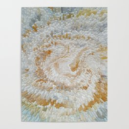 Abstract gold roses Poster