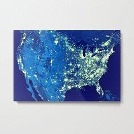 America At Night Metal Print