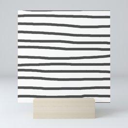 Simply Drawn Stripes in Simply Gray Mini Art Print