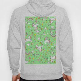 Unicorn Green Pattern Hoody