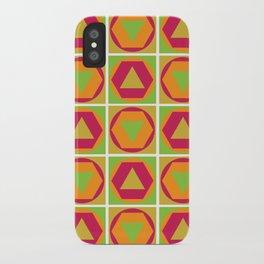 Classic Shapes / Retro Colours iPhone Case