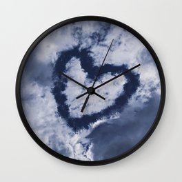 Above us only heart Wall Clock