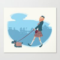 edinburgh Canvas Prints featuring Edinburgh by smutchy
