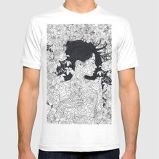Love and Beauty MEDIUM Mens Fitted Tee White