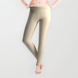 Solid Soft Champagne Pink White Color Leggings