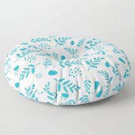 Serene Poinsettia Coordinate Aqua  Floor Pillow