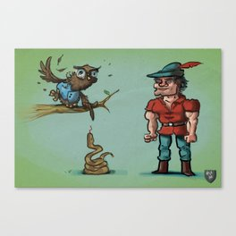 King Graham, Cedric the Owl and a Poisonous Snake Canvas Print