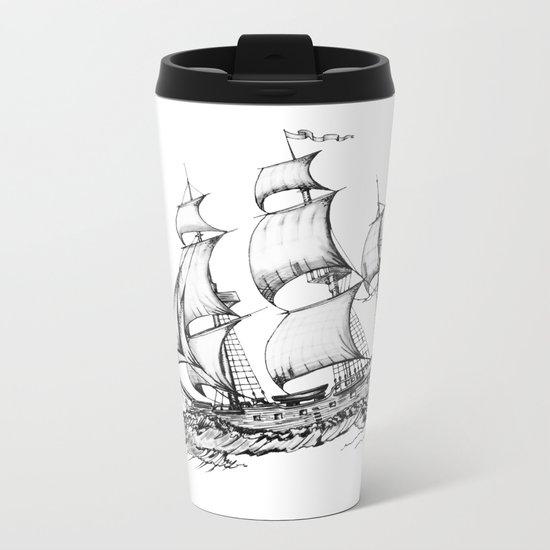 sailing ship Metal Travel Mug