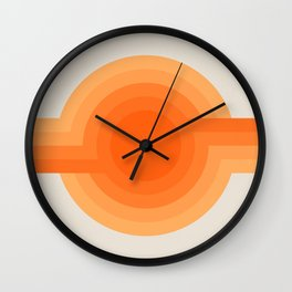 Sunspot -  Creamsicle Wall Clock