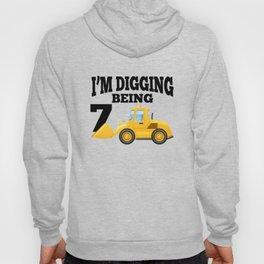 I'm Digging Being 7 Celebrate Kids Birthday Hoody
