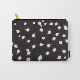 Abstract Modern Black Pink Watercolor Splatters Carry-All Pouch