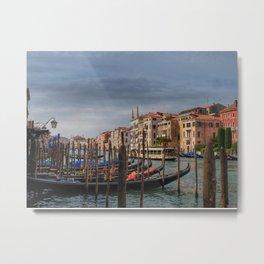 Gondola's on Grand Canal Metal Print