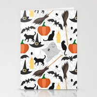 halloween Stationery Cards featuring Halloween by Julia Badeeva