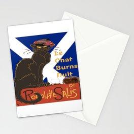 Le Chat Burns Nuit Haggis Dram Scottish Saltire Stationery Cards