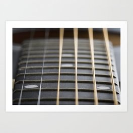 Guitar String Abstract 2 Art Print